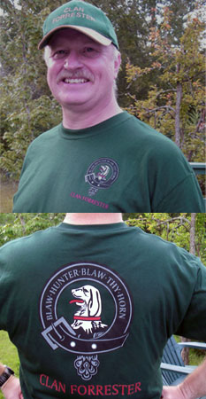 Clan Forrester T-Shirt w/ front and back logo